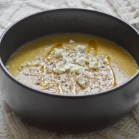 Wintery Red Split Lentils and Turnip Soup