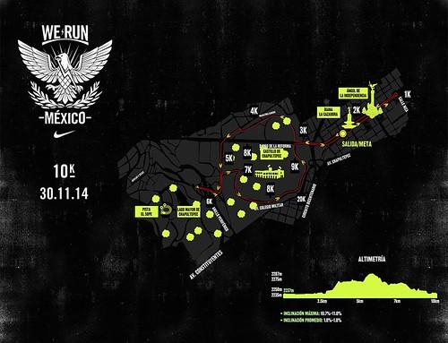 Ruta carrera We Run Mexico 10K 2014