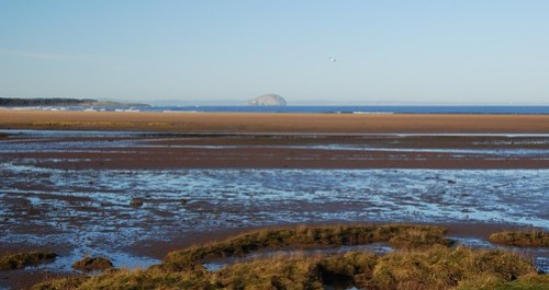 View to the Bass Rock from Dunbar