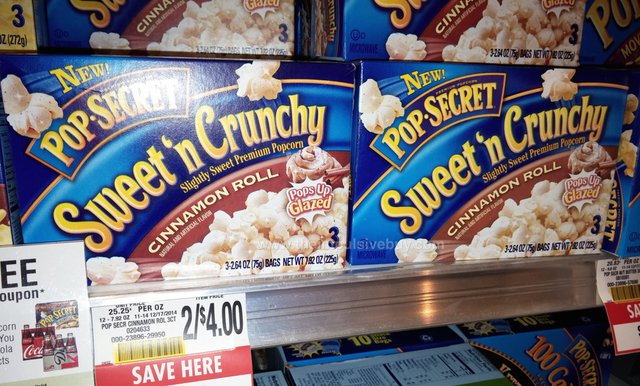 Pop-Secret Sweet 'n Crunchy Cinnamon Roll Popcorn