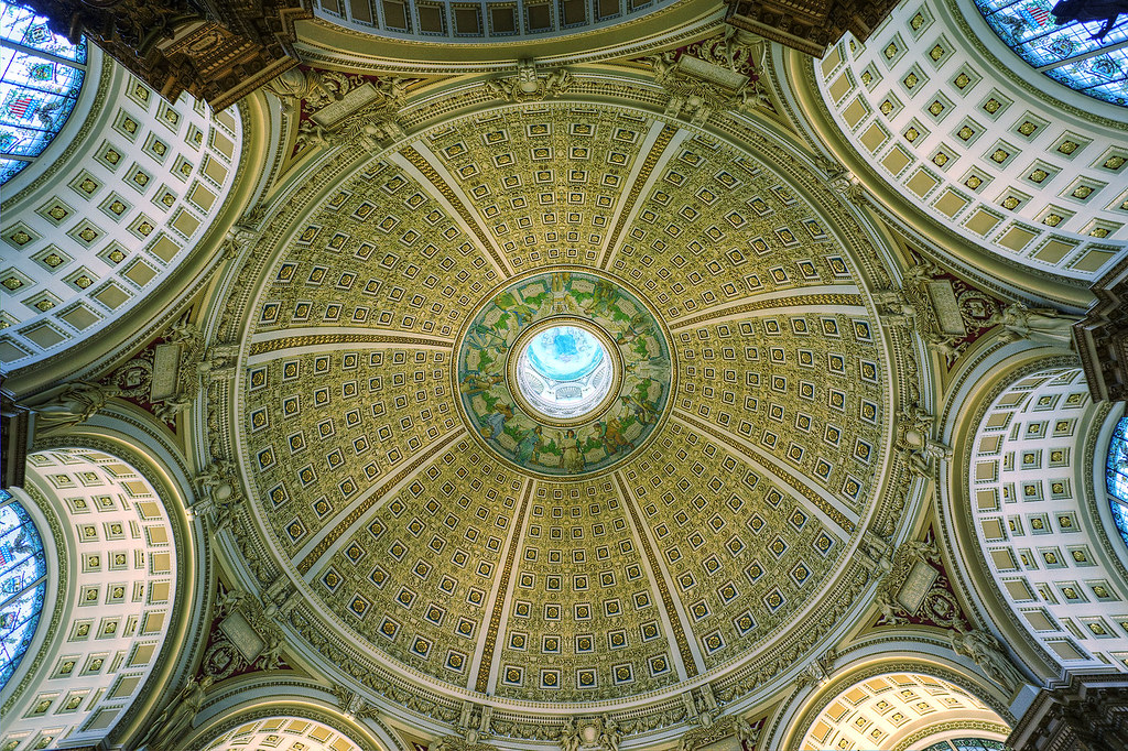 Dome, Reading Room, Jefferson Building, Library of Congress