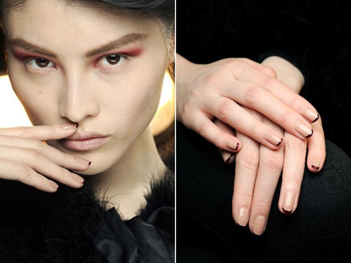 ♥ 冬天的優雅!凝膠指甲法式 3