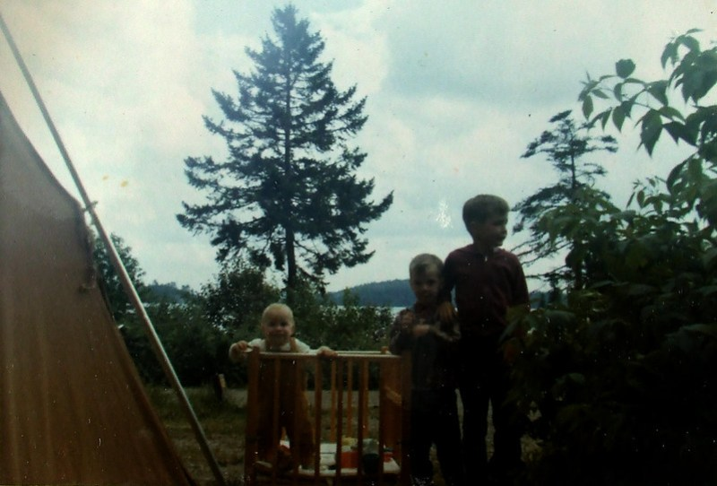 camping in Canada, 1970