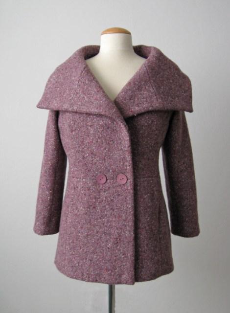Burda Plum jacket front