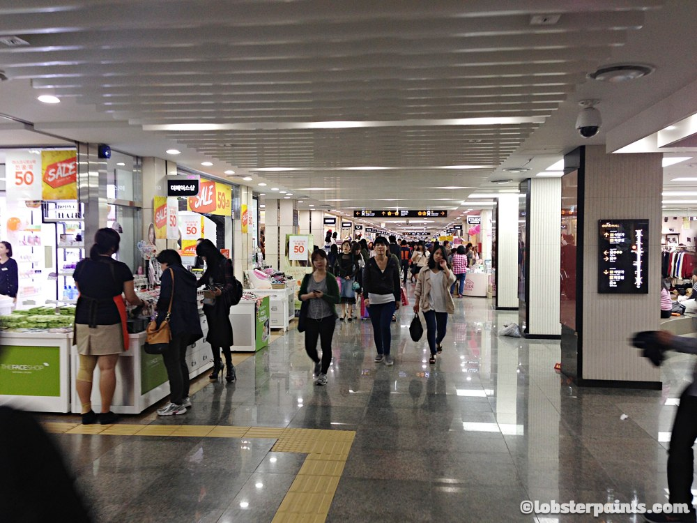2 Oct 2014: Gangnam Underground Shopping Arcade @ Express Bus Terminal Station | Seoul, South Korea