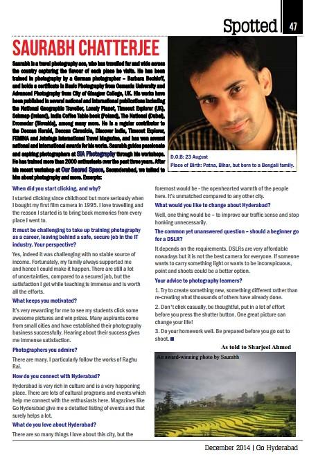 Go Hyderabad Magazine December 2014