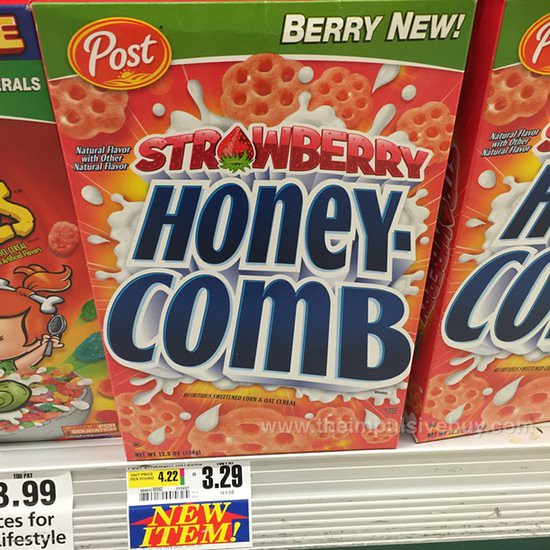 Post Strawberry Honeycomb Cereal