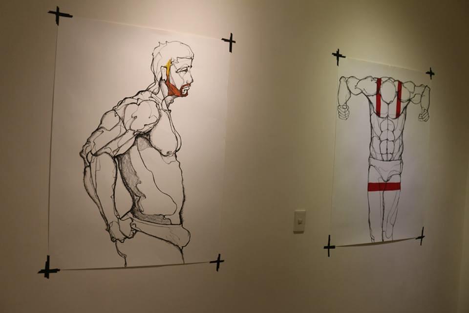 2014「冥想席勒 – 躺在紙上的黑線」林俊良個展