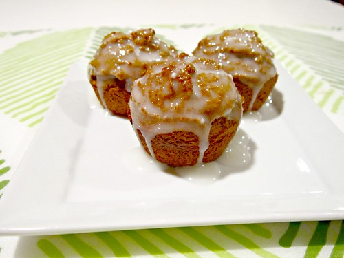 Mini Gingerbread Muffins with Lemon Glaze