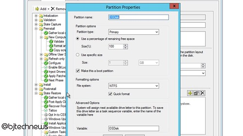 How To Create a Partition within MDT 2013 Task Sequence | BTNHD
