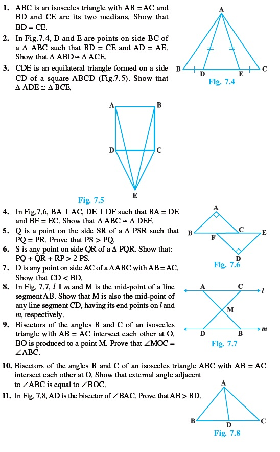 Class 9 Important Questions for Maths - Triangles