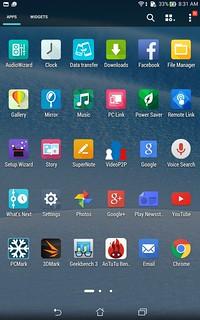 App tray ของ ASUS fonepad 8