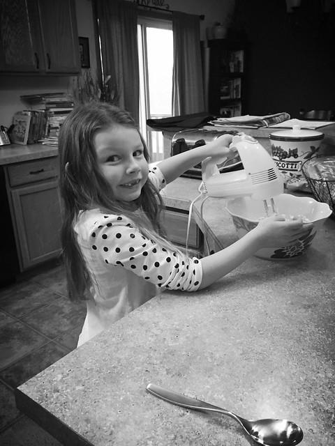 Helping bake Christmas cookies!