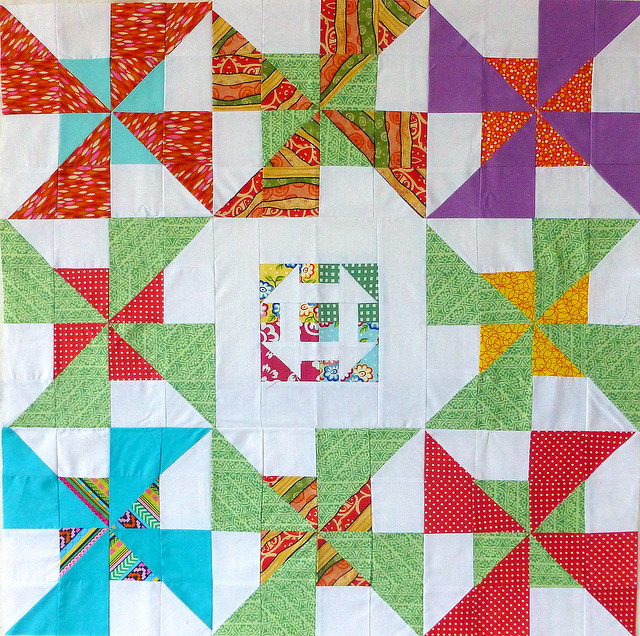 Bee Blessed orphan quilt top 4 (baby)