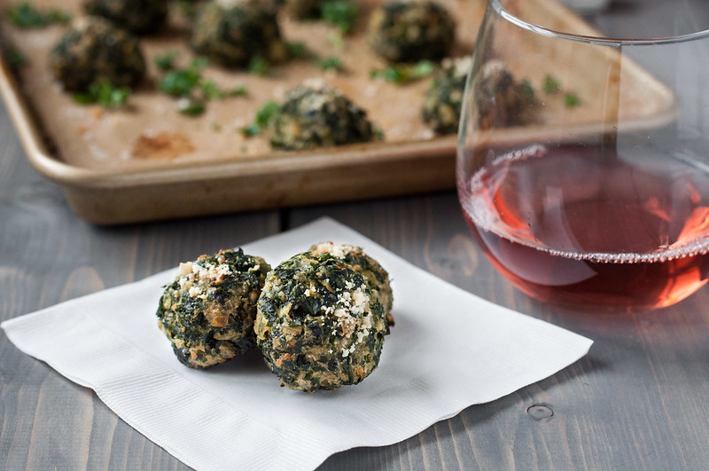 Baked Parmesan Kale Puffs | one-pan, make-ahead, vegetarian