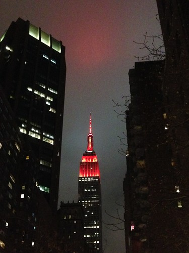 Empire State Building, Valentine's Day, NYC. Nueva York