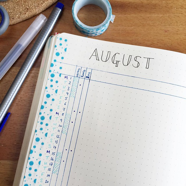 Almost time for a new month. I've gone simple for the monthly log this time. #bujo #bulletjournal