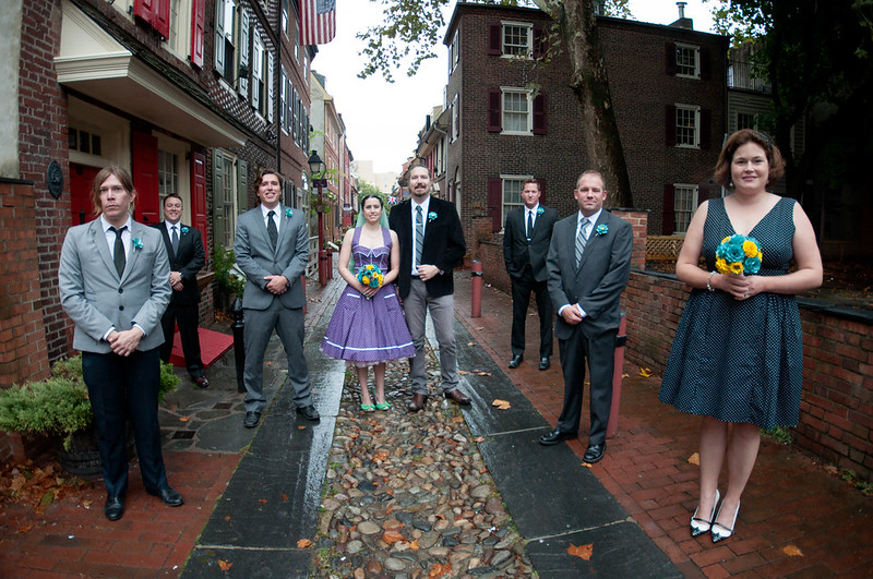 A tour of Philly wedding with bowling alley reception on @offbeatbride