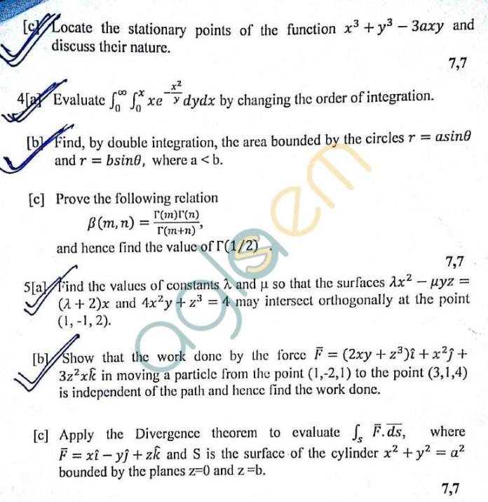 DTU: Question Papers 2012 – 1 Semester - End Sem - AM-101