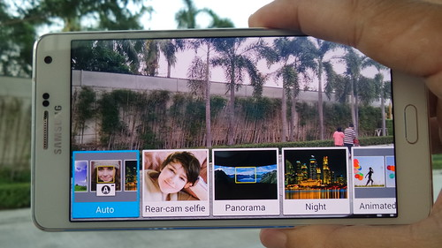 User Interface กล้อง การเลือกโหมดถ่ายภาพของ Samsung Galaxy A7