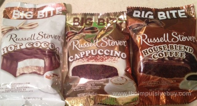 Russell Stover Big Bite (Hot Cocoa, Cappuccino, and House Blend Coffee)