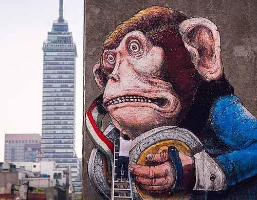 Con murales callejeros protestan por la violencia en el país
