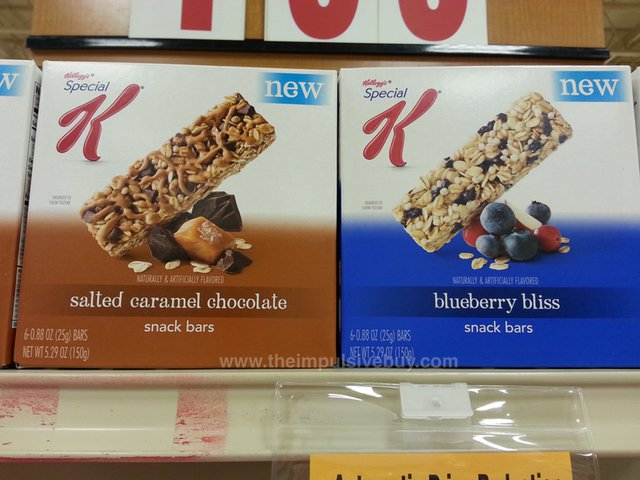 Kellogg's Special K Snack Bars (Salted Caramel Chocolate and Blueberry Bliss)