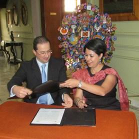 Firman convenio Secretarios de Turismo del Estado de México y San Luis Potosí