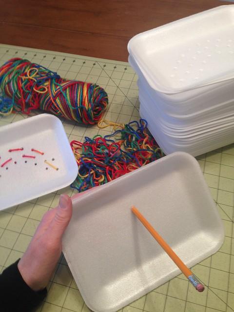 Preschool sew a story: rainbows