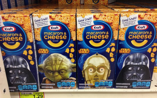 Kraft Macaroni & Cheese Star Wars Shapes