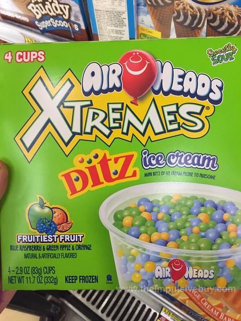 Airheads Xtremes Fruitiest Fruit DitZ Ice Cream