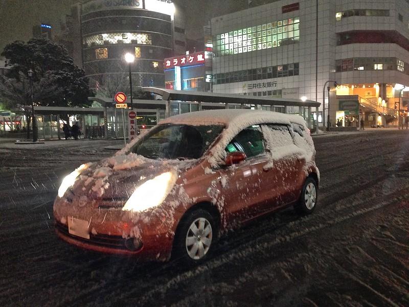 Nishi Kasai Station Area in snow
