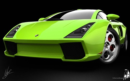 Lamborghini Green Concept HD wallpapers