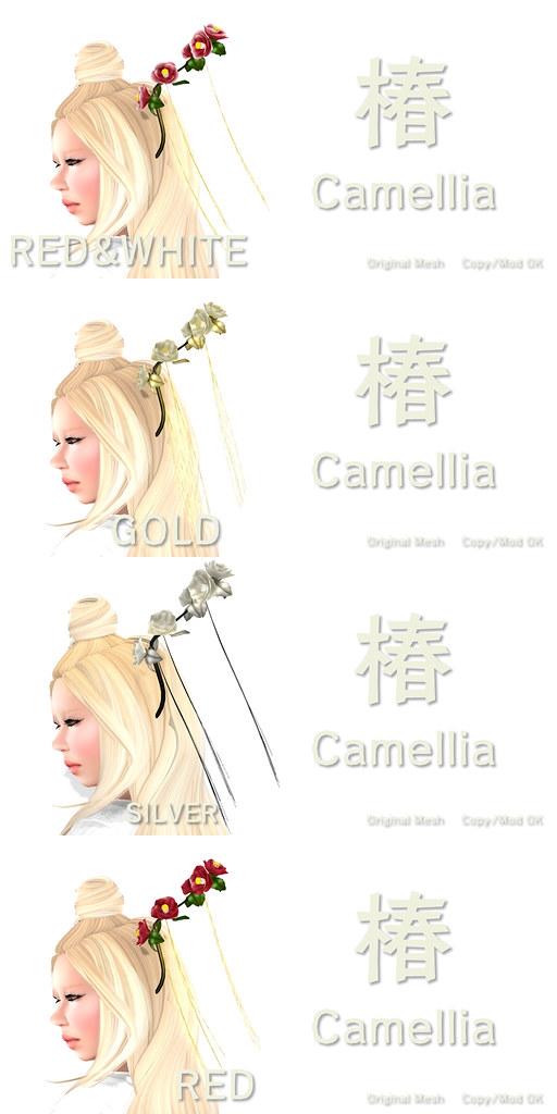 Camellia - TSUBAKI - HAIR ACCESORY