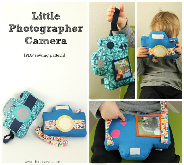 Little Photographer Camera Sewing Pattern