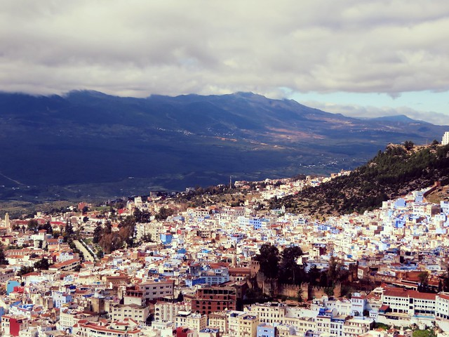 view over Chefchaouen, Morocco