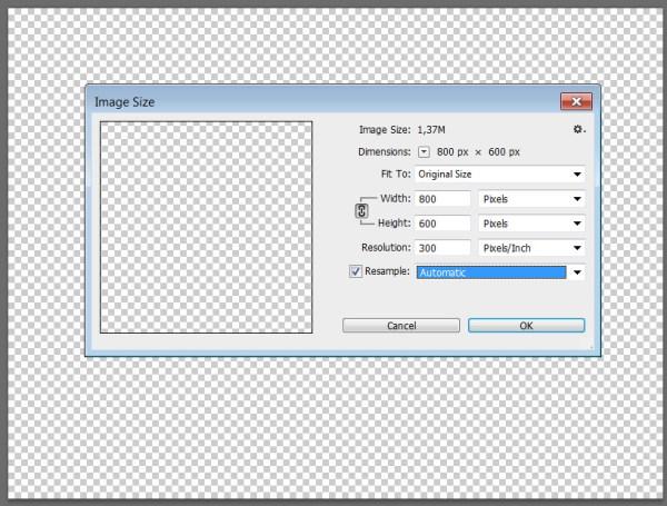 Как изменить размер и разрешение файла в Photoshop Фото