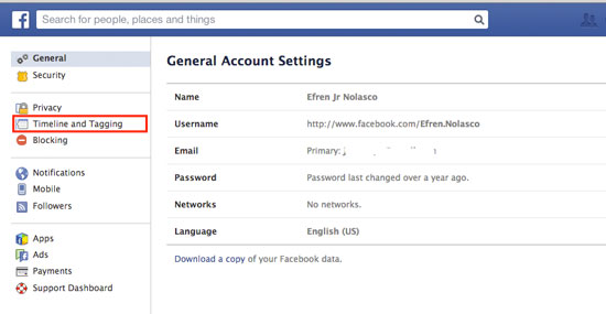 How to Block Friends from Posting on your Facebook Wall - Step 2