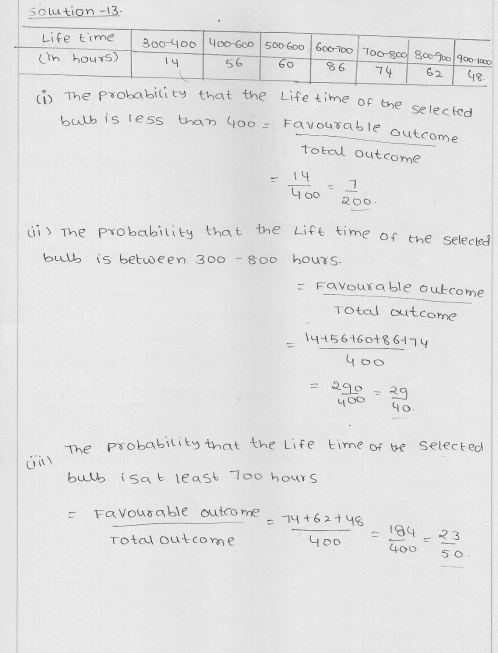 RD Sharma Class 9 Solutions Chapter 25 Probability 10