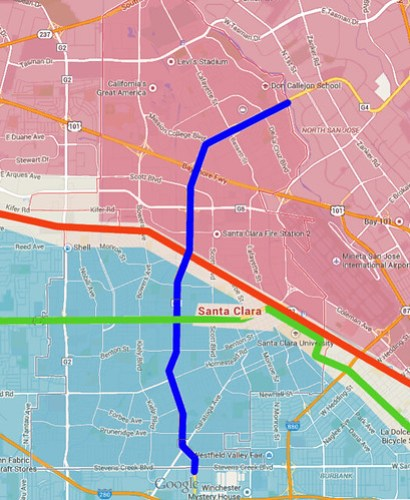 Santa Clara jobs & housing map