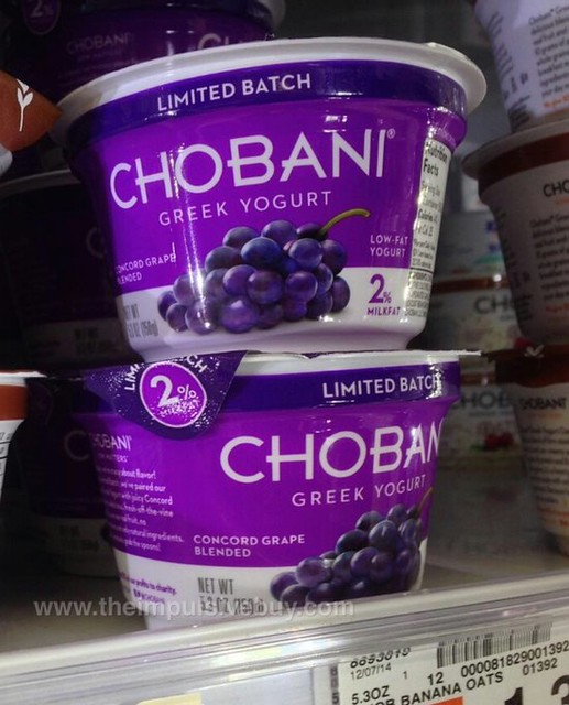 Chobani Limited Batch Concord Grape Greek Yogurt