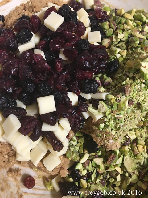 Rosewater, Pistachio, Cranberry, Blueberry & White Chocolate Oat Cookies