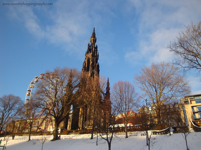 Edinburgh Snow Walter Scott Monument