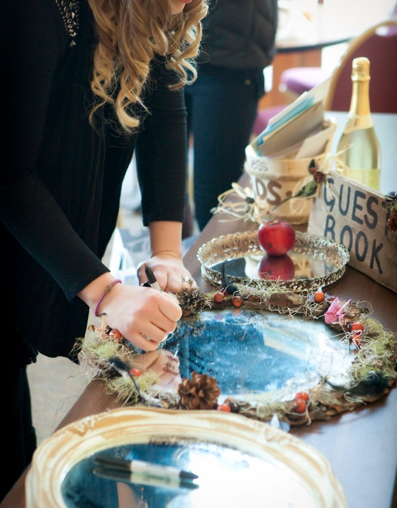 How mirrors became a budget-friendly guest book from @offbeatbride