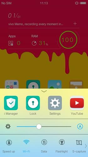 Control Center ของ Vivo X5 เห็นแล้วนึกถึง iOS8