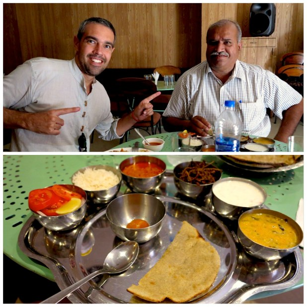 Thali comida India en Jodhpur