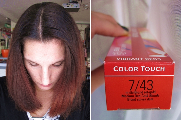 Project Me 14.11. Haare Wella Color Touch Vibrant Reds 7/43 mittelblond rot-gold