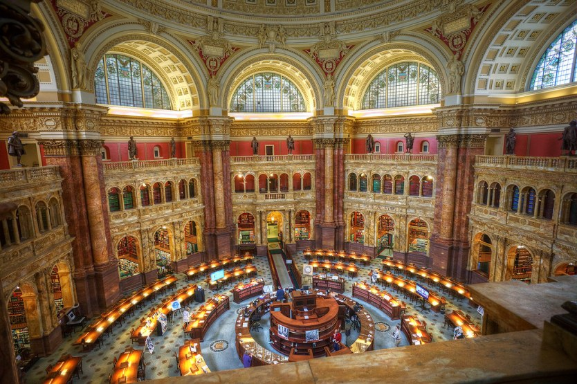 Reading Room, Jefferson Building, Library of Congress