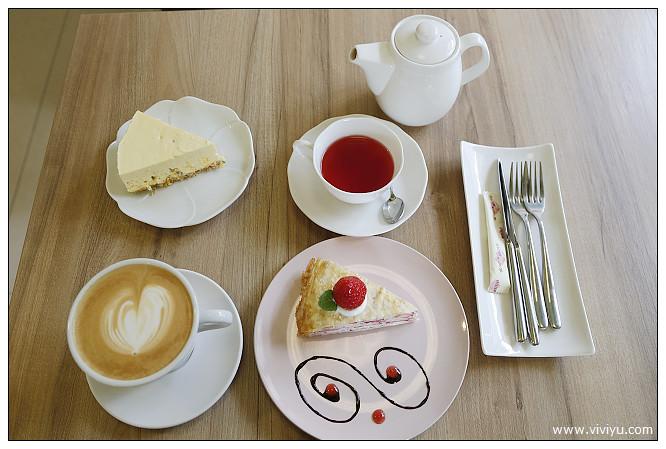 千層蛋糕,咖啡,桃園,八德,法樂米,美食,草莓草莓千層蛋糕 @VIVIYU小世界
