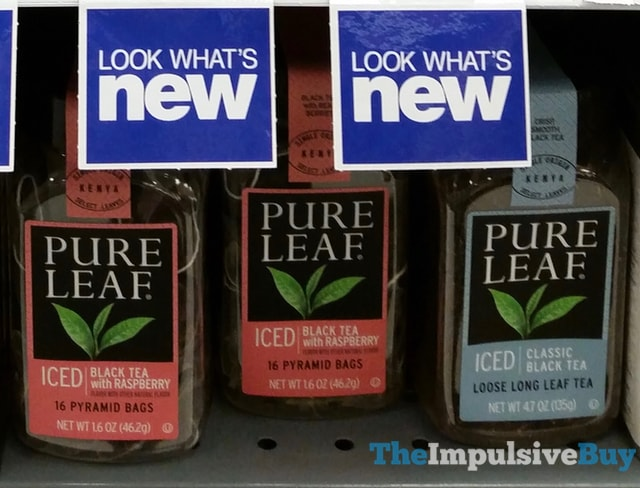 Pure Leaf Iced Black Tea with Raspberry and Iced Classic Black Loose Long Leaf Tea